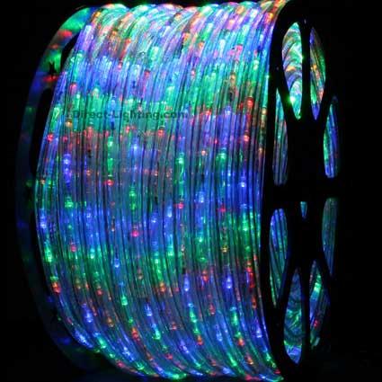 Led Rope Lights 150ft H109 Multi Color Direct Lighting