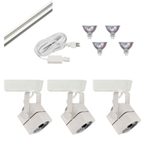 Track Lighting Kit HT-50012-3-KIT Display Lighting, Exhibit Lighting, Low Voltage Track Lighting Fixtures, track lighting fixtures, track lighting,track fixtures, track head, trade show lighting,HT-50012
