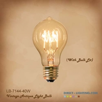 Antique Edison Bulb LB-7144-40W ( Pack of 6 ) Edison Bulbs, Antique Light Bulbs, Vintage Light Bulbs, A19, Bulb, Victorian, Decorative, LB-7144-40W
