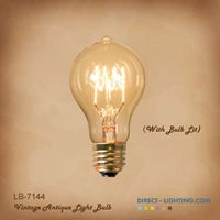 Antique Edison Bulb LB-7144-60W ( Pack of 6 ) Edison Bulbs, Antique Light Bulbs, Vintage Light Bulbs, A19, Bulb, Victorian, Decorative, LB-7144-60W