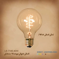Antique Edison Bulb LB-7145-40W  ( Pack of 6 ) Edison Bulbs, Antique Light Bulbs, Vintage Light Bulbs, G25, Bulb, Victorian, Decorative, LB-7145-40W