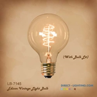 Antique Edison Bulb LB-7145-60W  ( Pack of 6 ) Edison Bulbs, Antique Light Bulbs, Vintage Light Bulbs, G25, Bulb, Victorian, Decorative, LB-7145-60W