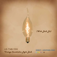 Vintage Edison Bulb LB-7148-15W  ( Pack of 6 ) Edison Bulbs, Antique Light Bulbs, Vintage Light Bulbs, C10, Bulb, Candelabra, Decorative Chandelier, LB-7148-15W