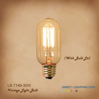 Antique Edison Bulb LB-7149-30W  ( Pack of 6 )  Antique Light Bulbs, Edison Bulbs,Vintage Light Bulbs, T12, Bulb, Victorian, Decorative, Edison Bulbs,