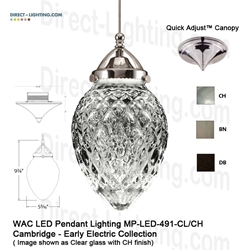WAC LED Pendant Lighting MP-LED491-CL LED Pendant Lighting, WAC Lighting, MP-LED491-CL