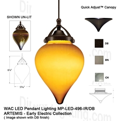 WAC LED Pendant Lighting MP-LED496-IR LED Pendant Lighting, WAC Lighting, MP-LED496-IR