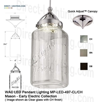 WAC LED Pendant Lighting MP-LED497-CL LED Pendant Lighting, WAC Lighting, MP-LED497-CL
