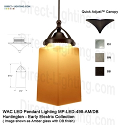 WAC LED Pendant Lighting MP-LED498-AM LED Pendant Lighting, WAC Lighting, MP-LED498-AM, HUNTINGTON Early Electric Collection