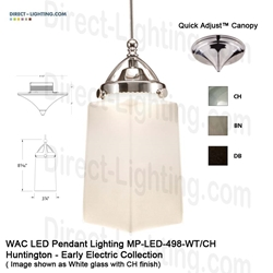 WAC LED Pendant Lighting MP-LED498-WT LED Pendant Lighting, WAC Lighting, MP-LED498-WT, HUNTINGTON Early Electric Collection