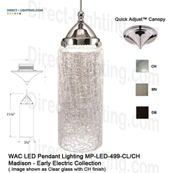 WAC LED Pendant Lighting MP-LED499-CL LED Pendant Lighting, WAC Lighting, MP-LED499-CL