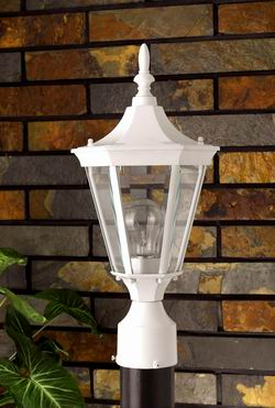 Outdoor Lighting OL-131PS-WH Outdoor post light