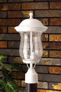Outdoor Lighting OL-135PS-WH Outdoor post light
