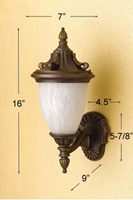 Outdoor Lantern OL-138WU-OB Outdoor Lantern, Wall Lamp