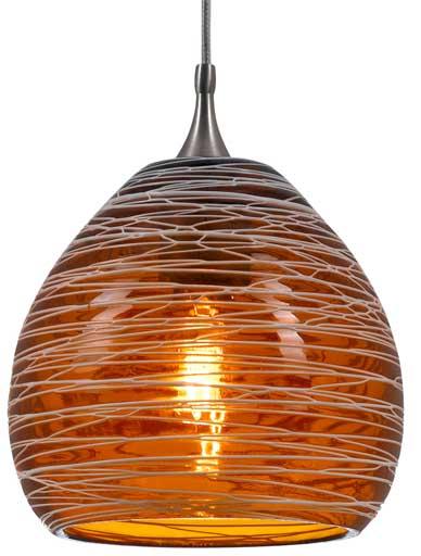 Shop Low Voltage Pendant Lighting PNL-1064 Hand blown Glass 35W G6